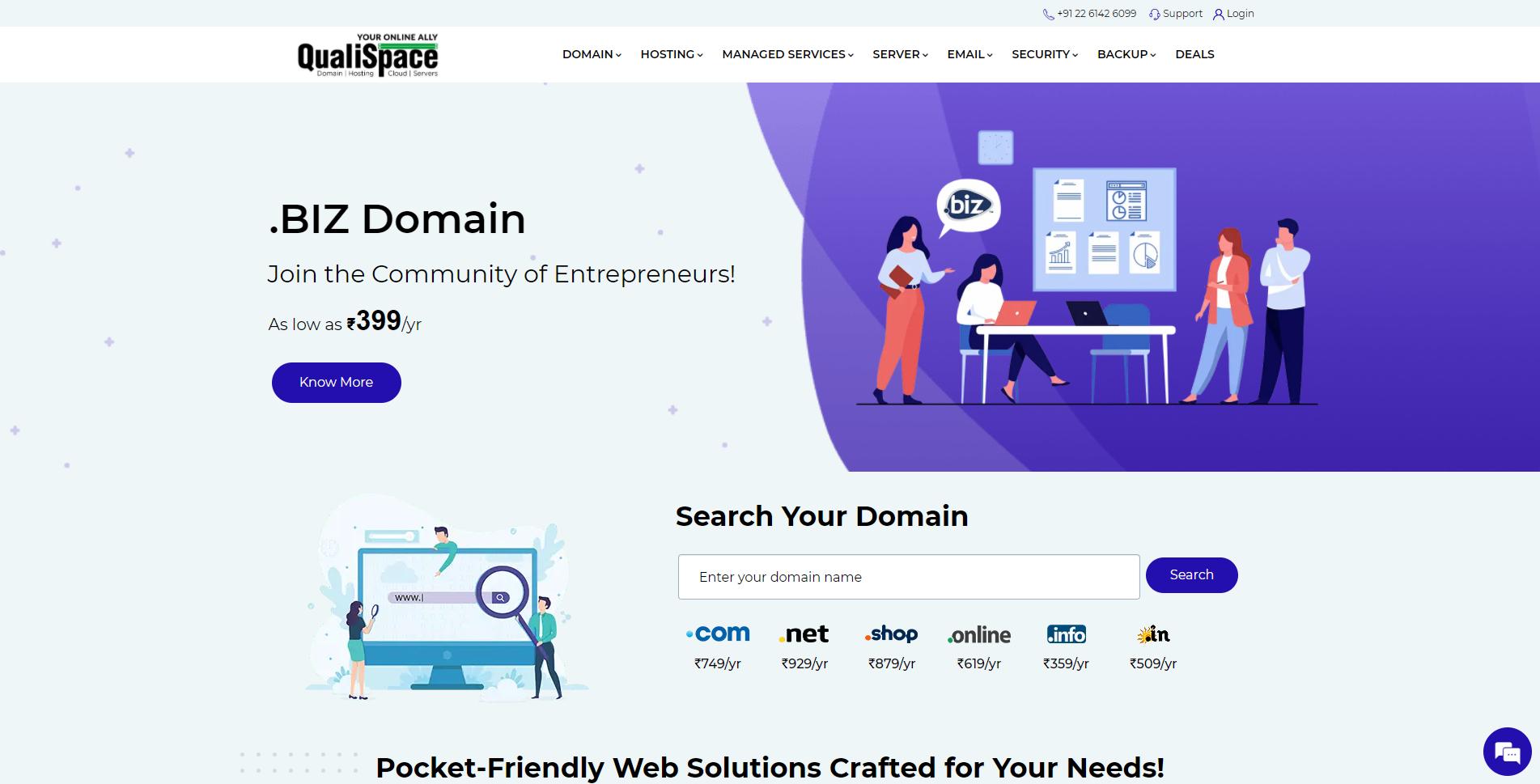 QualiSpace Web Services Pvt Ltd banner