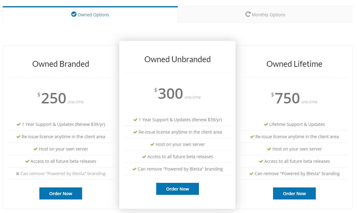 blesta pricing