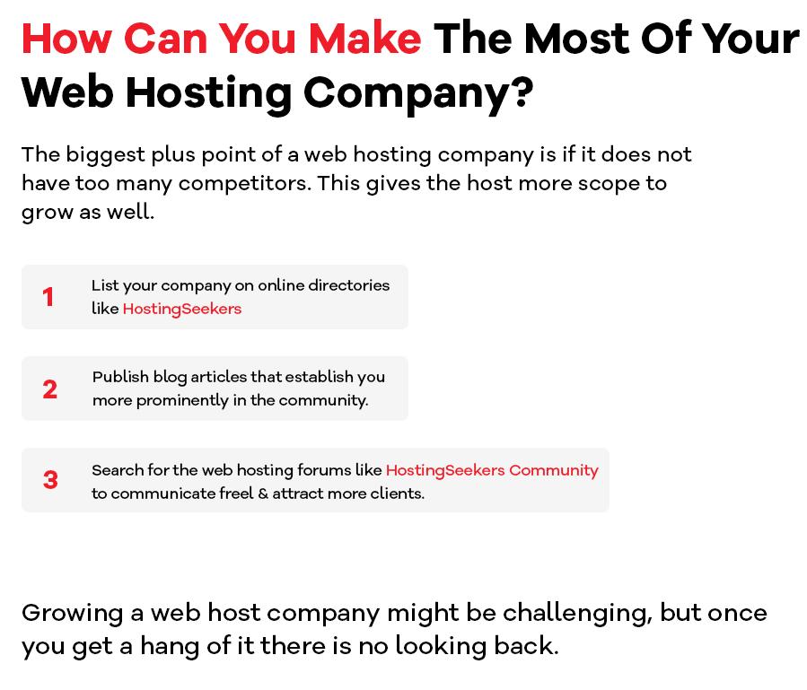 start a web hosting company